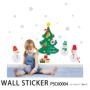 ウォールステッカー 雪だるまとクリスマスツリーPSC60004